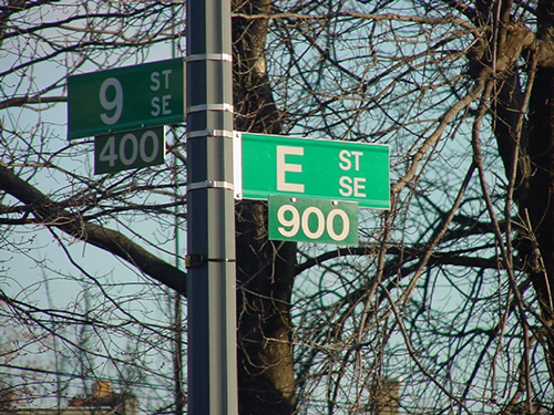 intersection of 9th and E